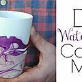 Diy : comment personnaliser un coffee mug blanc avec du vernis...