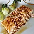 Saumon frais grillé à la plancha et laqué aux saveurs asiatiques