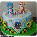 Gâteau <b>Sonic</b> et Tails