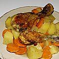 Poulet aux légumes et au vinaigre de cidre
