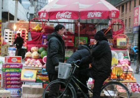 Nouvel an chinois, marchant de fruits