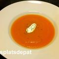 Soupe de carottes au gingembre et curcuma