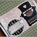 2 cartes avec le Mini <b>MétaliKs</b> Machine à écrire de Kési'art par Sévy