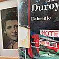 L'<b>absente</b> de Lionel Duroy