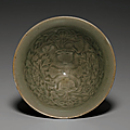 A rare small molded yaozhou conical bowl, northern song dynasty, 11th century