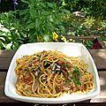 Agneau spaghetti selon le chef Jean-François Piège & une Belle de la <b>garrigue</b>