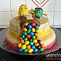 Gâteau à étages m&m's