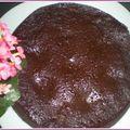 Gâteau express chocolat, crème de noisettes et daims au micro-ondes