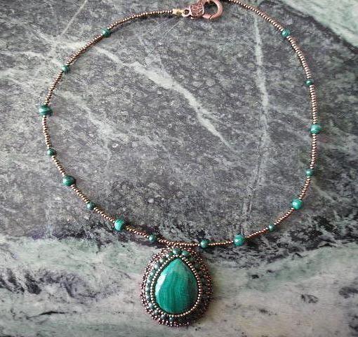 collier malachite