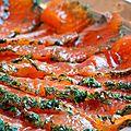 Saumon cru mariné à l'aneth
