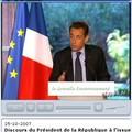 <b>Grenelle</b>, où en sommes-nous ? Discours du Président et Rapport du rapporteur