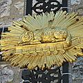 Banon, croix de l'église (84)
