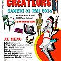 Marché de Créateurs Chez CrApule FActOry ! Samedi <b>31</b> <b>Mai</b> 9h/ 20h ! Une belle équipe de créateurs qui déborde d'imagination !!
