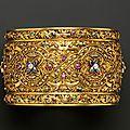 <b>Renaissance</b> <b>Revival</b> 18kt Gold Gem-set Armlet, c. 1880