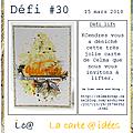 Carte défi #30 la carte a idees