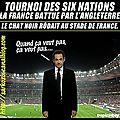 Tournoi des 6 nations : le chat noir était présent au stade de france