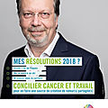 CAMPAGNE CANCER@WORK 2018 : CONCILIER CANCER ET TRAVAIL