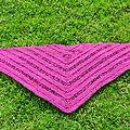 Châle rose tricot