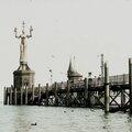 Konstanz, digue et statue (Allemagne)