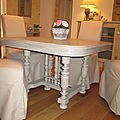 PATINE TABLE -COULEUR TAUPE-