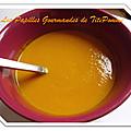 Velouté de carotte au lait de coco et curry