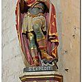 MONTREUIL-SUR-MER : La statue de St-<b>Expédit</b>, à l'intérieur de la collégiale <b>Saint</b>-Vaast
