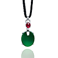 A highly important jadeite, <b>ruby</b> and diamond pendant necklace