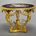 A Vatican workshops micromosaic and gilt bronze centre table, Rome, mid-19th century