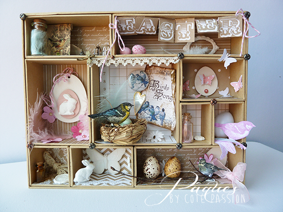 Paques Shadow Box Cote Passion