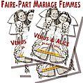 Faire-part de mariage femmes hommes
