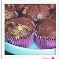 Muffins chocolat-coeur beurre de cacahuètes