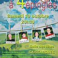 <b>TIRES</b> <b>A</b> <b>4</b> <b>EPINGLES</b> <b>A</b> CAISSARGUES, le 19 octobre