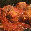 Boulettes de boeuf, sauce chorizo & tomate