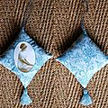 coussin muse bleue