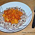 Navets à la sauce tomate épicée