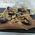 Galette bretonne aux moules du vivier sur mer 35 à la sauce au livarot et 1 an de plus