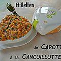 Rillettes de carottes à la cancoillotte