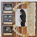 Page souvenir de grossesse