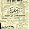 <b>8</b> <b>mai</b> <b>1945</b> en Bretagne et les sept Unes du Télégramme qui ont relaté la victoire des Alliés