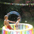 Cake, paddling pool and bubbles