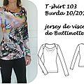T-shirt 103 burda 10/14
