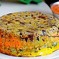 Le crespéou: le gâteau d'omelettes d'herbes et de légumes du sud, végétarien