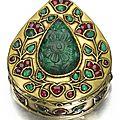 <b>A</b> gold, <b>enamelled</b>, <b>and</b> gem-set box, North India, 18th-19th century