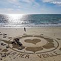 Messages <b>éphémères</b> sur le sable