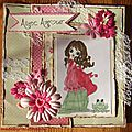 Une carte shabby girly
