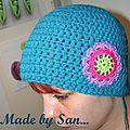 Bonnet à fleur - hat with flower