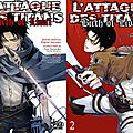 Mes lectures pika du 12/14 et du 01/15 - l'attaque des titans, before the fall & yona