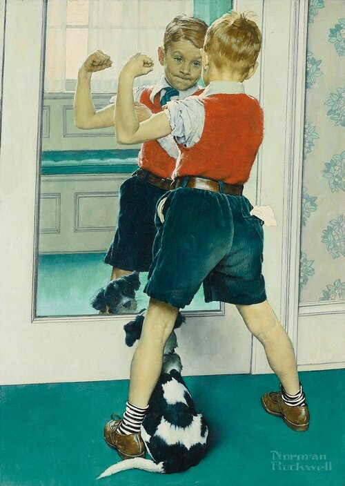Norman Rockwell, The Muscleman, 1941