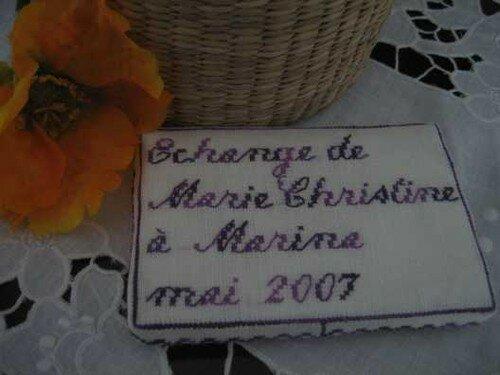Chti59/Marie-Christine à Marina dos