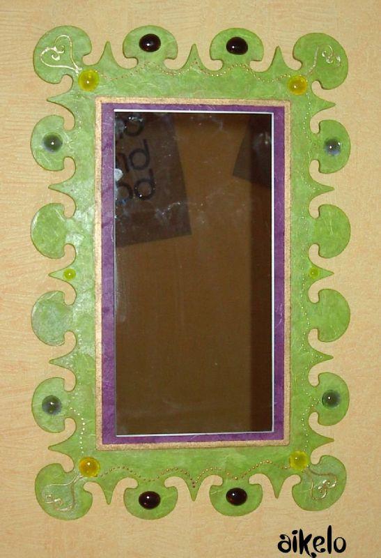 Miroir piques vertviolet